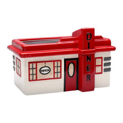 ATD - 10.25 Inch Road Trip Theme Red/White Retro Roadside Diner Cookie Jar - This gorgeous 10.25 Inch Road Trip Theme Red/White Retro Roadside Diner Cookie Jar has the finest details and highest quality you will find anywhere! 10.25 Inch Road Trip Theme Red/White Retro Roadside Diner Cookie Jar is truly remarkable.