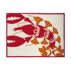 Thomas Paul - Amalfi Lobster Tea Towel - Bold, graphic, colorful; these are words often used to describe crazy uncles and women's fashion, but they are also the perfect words to describe the textile collection of design industry darling Thomas Paul. His cheerful prints are the perfect addition to any space or wardrobe needing a splash of color.  The Amalfi collection is inspired by the glamorous and alluring, Amalfi Coast in Italy, during the 1960's. A fun collection of bold prints in vibrant hues and vintage themes, for your home and any seaside escape. Happy travels!