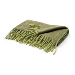 Go Home Ltd - Go Home Ltd Two Tone Green Mohair Throw X-55891 - Go Home Ltd Two Tone Green Mohair Throw X-55891