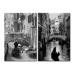 "Baxton Studio - Baxton Studio Iconic Italy Mounted Photography Print Diptych - Venetian gondoliers, canals, and bridges: icons of this famed Italian city encourage romance and whimsy. Made in China with MDF wood frames, this two-piece modern wall art set features two complementary images printed on two waterproof vinyl canvases. The Iconic Italy Diptych is made in China and is fully assembled. Hardware for hanging on the wall of your choice is not supplied. To clean, wipe with a dry cloth. Product dimension: 15.75""W x 1""D x 23.62""H"
