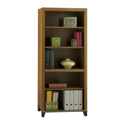 Achieve Collection 5 Shelf Bookcase with Adjustable Shelves and Optional Doors