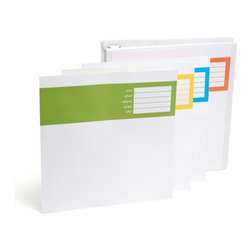 "1"" View Binder - Open sesame! Rings pop open with the greatest of ease."