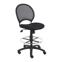 Boss - Boss B16217 Mesh Drafting Stool with Loop Arms - Black - B16217 - Shop for Chairs from Hayneedle.com! About Boss Office ProductsWilliam Huang Boss Office Product s CEO established the Los Angeles-based company in 1990. The company began as an importer distributing Taiwanese-crafted chairs to retailers and dealers throughout the United States. A year later in 1991 Boss became the first US office chair distributor to establish manufacturing facilities in China a major step forward for the company which now has distributors around the globe. In 2003 Boss was ranked as one of Inc. Magazine s 500 fastest growing private companies in America. That tremendous growth continues today as Boss continually delivers exceptional office products to companies around the world.