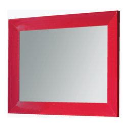 "Viena 43"" 1/4 rectangular mirror. Rasperry. - Viena mirror 43"" 1/4. Red gloss."