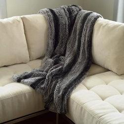 Gambrell Renard Knitted Rabbit Fur Throw - GR