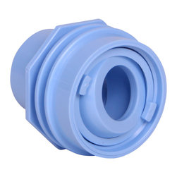 """Color Match Pool Fittings - Flush Mount Return Fitting, Light Blue - Designed to finish flush with the pool surface and will work with both 1"""" pipe or 1 ½"""" pipe. Includes an adjustable eyeball and Water Barrier Rings to help prevent water leakage. Manufactured from Superior UV-Resistant ABS materials. Proudly made in the USA."""