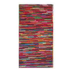 Safavieh - Safavieh Handmade Nantucket Pink/ Multi Cotton Rug (2'3 x 4') - Safavieh's Nantucket collection is inspired by timeless contemporary designs crafted with the softest cotton available.