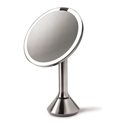 simplehuman - Sensor Mirror - This magnifying mirror illuminates automatically as your face approaches — how cool is that? What's more, the bright LED lights simulate natural daylight for accurate color rendition. Don't you love it when a product surprises you with its innovations?