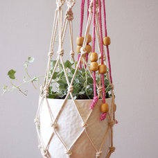 Macramé Planter by ouchflower