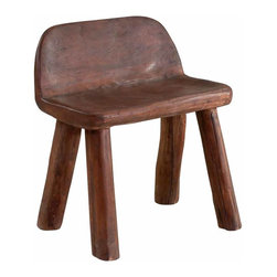 Selamat Designs - Barstool, Hand-hewn teak - Accent your home with this hand hewn teak barstool, it sure to be the talk of all your guests.