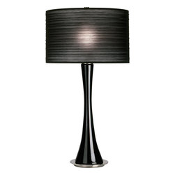 Robert Abbey - Kate Table Lamp - Go for ultramodern lighting in your bedroom or living room with a chic table lamp. Pick either a white or black organza shade with a white, clear or black glass base and see how effortlessly it pairs with your sophisticated decor. A three-way switch allows you to set the right mood for any event.