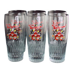 EuroLux Home - 2002 World Cup Commemorative Set 6 Beer Glasses - Product Details