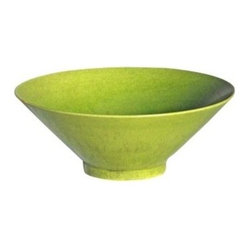Belle & June - Lime Porcelain Bowl - Let this bowl bring a bright note of color to your contemporary kitchen. Filled with fruit it's an instant centerpiece on your dining room table. Or let it stand alone on a console table in your living room.