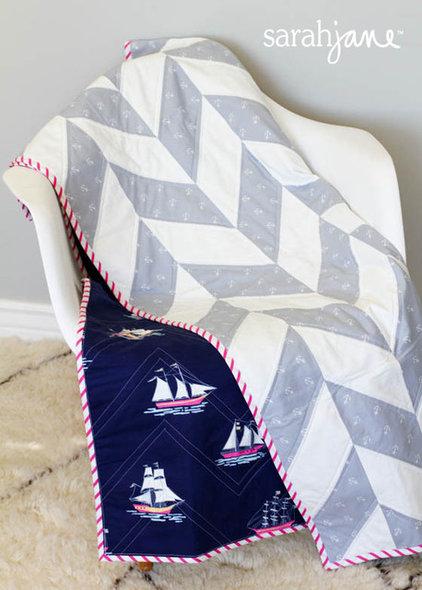 Contemporary Baby Bedding by shop.sarahjanestudios.com