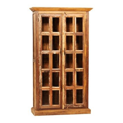 Crawford Cabinet - This large 2 door cabinet is hand built from reclaimed hardwoods and finished ...