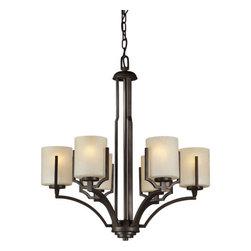 Forte Lighting - Forte Lighting 2401-06 24.5Wx27.5H 6 Light Chandelier - Contemporary / Modern 6 Light Chandelier
