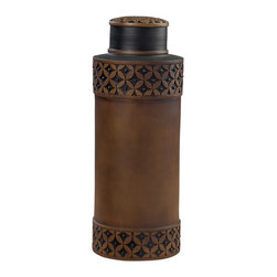 Sterling Industries - Sterling Industries 93-9238 French Roast Carved Storage Jar - Jar (1)