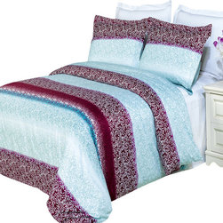 Bed Linens - Kimberly Printed Multi-Piece Duvet Set King/California King 3PC Duvet Set - Enjoy the comfort and Softness of 100% Egyptian cotton bedding with 300 Thread count fiber reactive prints.*100% Egyptian cotton *300 Thread count *Reactive Print, lasts longer and looks like real live pictures .