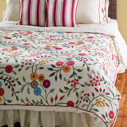 Rizzy Rugs - Abigail Red King Duvet with Poly Insert Bed Set - - Construction: Printed and Piecing details with Ruffles, Embroidery and Quilting  -  Vividly whimsical, the bright color palette of a this country style pattern adds an updated dimension to the traditional style. Paired with striped accent pillows the textures created with pattern give this duvet set the edge to keep up with emerging trends.  - Care and Cleaning: Machine wash separately, hand wash accent pillow Rizzy Rugs - BT0943 K