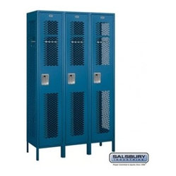 Salsbury Industries - Extra Wide Vented Metal Locker - Single Tier - 3 Wide - 6 Feet High - 18 ...