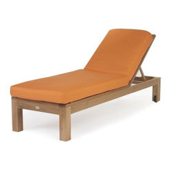 Caluco Teak Single Chaise Lounge
