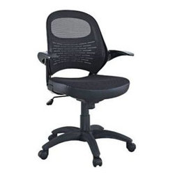 "LexMod - Candid Sleek Office Mesh Chair with Flip Up Arms - Candid Sleek Office Mesh Chair with Flip Up Arms - Let fresh and innovative ideas pour forth. The Candid chair functions as a spontaneous and unrehearsed addition to your work environment. With a contoured padded mesh seat, ergonomic mesh back, and easy flip up arms, take flight to more natural and independent modes of creative speech.br /Set Includes:br /One - Candid Sleek Office Mesh Chair with Flip Up Arms Mesh Back, Sponge Seat Covered with Mesh Fabric, Seat Tilt with Tension Control, Adjustable Seat Height, Flip-Up Arms, Chair Weight Capacity - 265 lbs. Overall Product Dimensions: 26""L x 24""W x 37 - 41""H Seat: 18""L x 18.5""W x 18 - 22""HBACKrest Height: 21""H Armrest: 2""W x 27 - 31""H - Mid Century Modern Furniture."