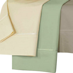 Dreamfit - Dreamfit Bamboo Sheets, Sand, Cal King - Sheet set includes an extra-large top sheet, a patented self-tailoring fitted sheet, and two pillowcases. A wonderful blend of silky softness and health benefits, Bamboo-Rich fibers wick away moisture from the body and are naturally bacteria and allergen resistant.