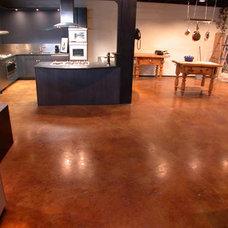 Traditional Flooring by Concreteideas.com