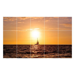 Picture-Tiles, LLC - Boat Ship Picture Wall Back Splash Tile Mural  18 x 30 - * Boat Ship Picture Wall Back Splash Tile Mural 1219