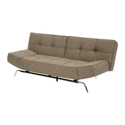Lifestyle Solutions - Lifestyle Solutions Marcel Euro Lounger in Dark Gray - The Marquee collection offers distinctive styles with unique features specially designed for the urban living space. Features sofa height seating, bonded leather covers, chrome legs, pocket coil springs, and high density foam cores . Upholstery grade fabrics cover the insides of a solid metal frame. Sofa styles, slider styles, Euro Lounger Styles, one of the largest European lines of convertibles on the market today.