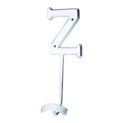 Renovators Supply - Hooks Wrought Iron Hook White Decorative Letter Z - Letter Hooks: Crafted of wrought iron, these hooks add a personal touch for each member of the family, to entryways, bedrooms or baths. Each hook includes hardware for mounting.