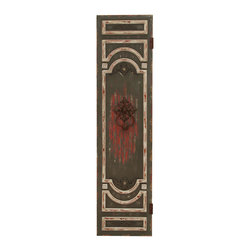Benzara - Contemporary 78in. Wooden Wall Panel with Bright Red Accents - When it comes to your living room having the right wooden wall panel that would go well with your decor becomes very important. This panel with bright red accents seems like a perfect choice. It is just perfect to suit your contemporary and transitional spaces. It gives a very regal look thanks to its make from solid wood and is not very difficult to maintain it too. The best part is its intense visual appeal that is sure to give an elegant look wherever placed. It has intricately designed carvings and a very unique design. It comes with a dimension of 78 in.  H x 20 in.  W x 1 in.  D.