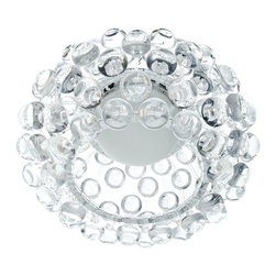 """LexMod - 12"""" Caboche Style Ceiling Fixture - The circle of revolution displayed by the Caboche Series introduces spontaneous brilliance that reflects powerfully throughout any room. Adorning its bearer, the glass globe is a crown of experiential motion."""