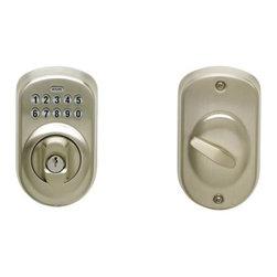 SCHLAGE - Schlage Keypad Deadbolt Plymouth Adjustable Backset SC1 Satin Nickel - Features: