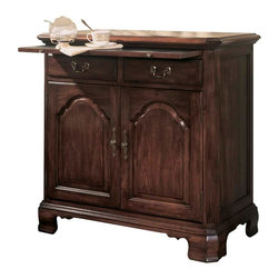 American Drew - American Drew Cherry Grove Server in Antique Cherry - The 45th Anniversary Cherry Grove collection is a blending of new and old adaptations from 18th century and higher end traditional styling. Georgian, Edwardian, Sheraton along with Queen Anne elements create this beautiful assortment of furniture. Cathedral cherry veneers, alder solids and select hardwoods create a new and exciting collection of bedroom, dining room and occasional for American Drew. Cherry Grove features many new items that have been designed to fill the 45th Anniversary Cherry Grove collection is a blending of new and old adaptations from 18th century and higher end traditional styling. Georgian, Edwardian, Sheraton along with Queen Anne elements create this beautiful assortment of furniture. Cathedral cherry veneers, alder solids and select hardwoods create a new and exciting collection of bedroom, dining room and occasional for American Drew. Cherry Grove features many new items that have been designed to fill the needs of your home along with many proven winners that have existed since the very beginning. Scale and dimensions have been addresses to better suit today's standard of living. Cherry Grove now offers you a variety of opportunities to complement multiple decorating environments. In the American Drew tradition, attention to detail and exquisite craftsmanship make every piece an heirloom. You will be investing in a timeless piece of furniture that will be cherished for generations to come.