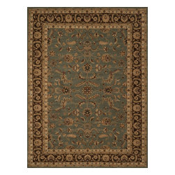 """Loloi Rugs - Loloi Rugs Stanley Collection - Blue / Brown, 2'-6"""" x 7'-9"""" - The magnificent Stanley Collection features modern interpretations of the most sophisticated hand knotted designs. Recreated in Egypt with power loomed technology these gorgeous polypropylene area rugs offer an affordable alternative."""