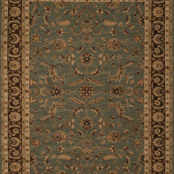 """Loloi Rugs - Loloi Rugs Stanley Collection - Blue / Brown, 5'-2"""" Round - The magnificent Stanley Collection features modern interpretations of the most sophisticated hand knotted designs. Recreated in Egypt with power loomed technology these gorgeous polypropylene area rugs offer an affordable alternative."""