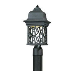 Illumine Outdoor Lighting. 1-Light Outdoor Blacksmith Bronze Post Head with Open