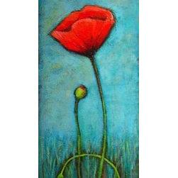 """Big Red Poppy"" (Original) By Sally Adams - Bright Red Poppy...I Love Color!"