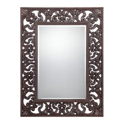 Savoy House - Kiara Mirror - Savoy house isn't just for lighting of the highest quality and best crafts man ship this elegant mirror is another way to bring the excellence of savoy to your home. Finish: Bronze. Safety Rating: UL, CUL
