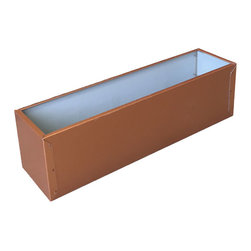 Copper Tone Aluminium Liners - Our architectural aluminum liners are available in four tones: silver, copper, aged copper green, and dark brown.
