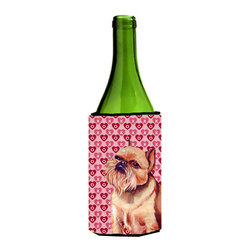 Caroline's Treasures - Brussels Griffon Hearts Love Valentine's Day Portrait Wine Bottle Koozie Hugger - Brussels Griffon Hearts Love and Valentine's Day Portrait Wine Bottle Koozie Hugger Fits 750 ml. wine or other beverage bottles. Fits 24 oz. cans or pint bottles. Great collapsible koozie for large cans of beer, Energy Drinks or large Iced Tea beverages. Great to keep track of your beverage and add a bit of flair to a gathering. Wash the hugger in your washing machine. Design will not come off.