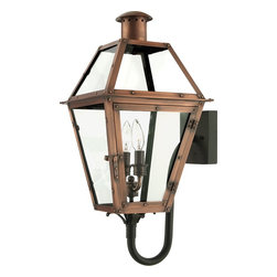 Quoizel - Quoizel RO8311AC Rue De Royal Traditional Outdoor Wall Sconce - From the Charleston Copper Lantern Collection, this piece gives you the historic look of gas lighting, but without the hassle of a propane feed. It is all electric, solid copper and hand riveted, giving your home the romantic, reproduction style of antique gas lights still popular today on many of the charming homes in New Orleans and Charleston.