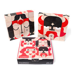 Miller Goodman - FaceMaker - Explore your creativity and discover thousands of unique faces to be made with these 25 wooden blocks. Will you make a cowboy, the queen or a character only you can imagine? These environmentally-friendly, hand printed blocks are loads of fun and whatever your age you'll be inspired to play.