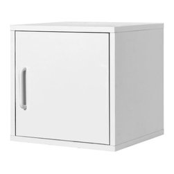 "Foremost - 15"" Door Cube White - Store your items in clean, cubic style with this door cube, perfect for any home or office. Use this cube to organize and store anything in your home, office or classroom. This model is simple to assemble. A laminate finish makes it easy to clean."