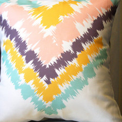 Aztec Removable Throw Pillow Cover by Leah Duncan on Etsy - Changing out pillows and throws is a great way to switch things up and bring in a little color as the seasons change. I like something like this, which would make a great indoor or outdoor pillow option.