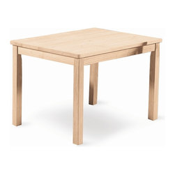 International Concepts - Mission Juvenile Wood Rectangular Table - Made of Solid Parawood. Unfinished. Minimal assembly required. 32 in. L x 25 in. W x 22 in. H