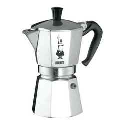 Bialetti Moka Express Coffee Maker - Say ciao to a wonderful morning, when you pour a cup of coffee from your Bialetti Moka Express Coffee Maker. Every family in Italy has one of these coffee makers, and you'll soon realize why. Simply place water in the boiler, and the heated water moves through the grounds and into your demitasse cup. This aluminum pot features a unique octagon shape, permitting it to diffuse heat evenly and enhance the aroma of your brew. Create rich, authentic espresso on your stovetop in just four to five minutes. The flip-up top and side-pour spout makes pouring easy and convenient. Hand-washing is recommended.