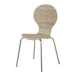 Monarch - Metal 34in.H Dining Chairs - Set of 4, Natural - Enjoy this contemporary natural reclaimed bentwood dining chair with sleek and sturdy metal legs for added support. This chair looks great with a desk or adding a unique look in your kitchen.