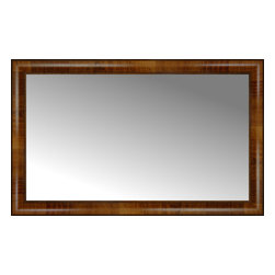 "Posters 2 Prints, LLC - 37"" x 23"" Belmont Light Brown Custom Framed Mirror - 37"" x 23"" Custom Framed Mirror made by Posters 2 Prints. Standard glass with unrivaled selection of crafted mirror frames.  Protected with category II safety backing to keep glass fragments together should the mirror be accidentally broken.  Safe arrival guaranteed.  Made in the United States of America"